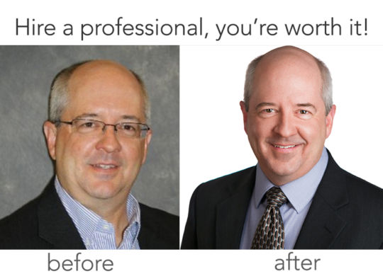 KeliComm Headshots Before & After