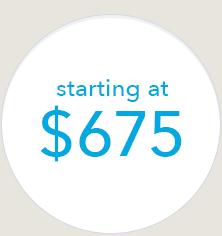 Starting at $675